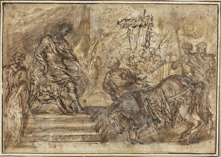 Caligula Appointing His Horse Incitatus to the Consulship - Style of Pietro da Cortona 1596-1669 - Art Institute of Chicago